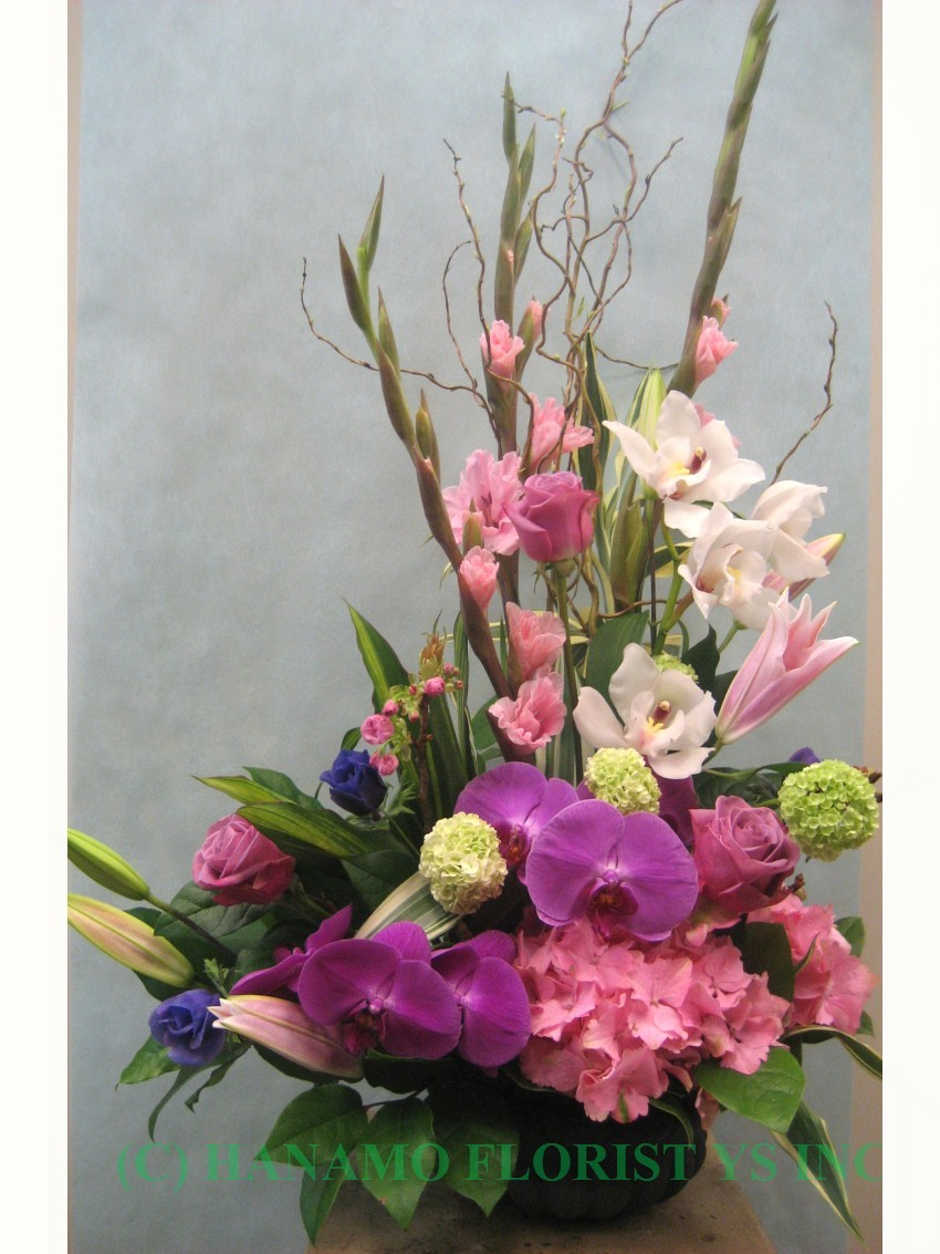 JAPA012 Designer's Choice Seasonal Japanese Arrangement M