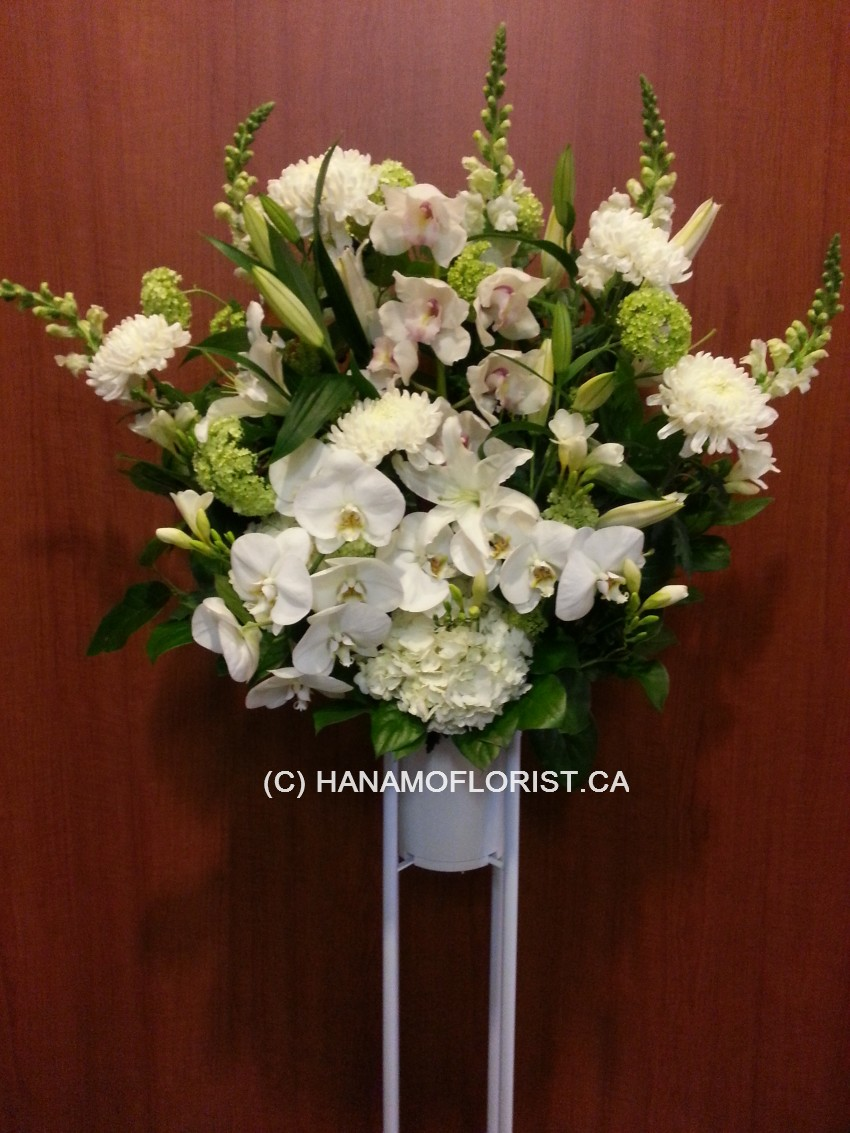 SYMP030 Funeral Stand Flower Designer's Seasonal Choice
