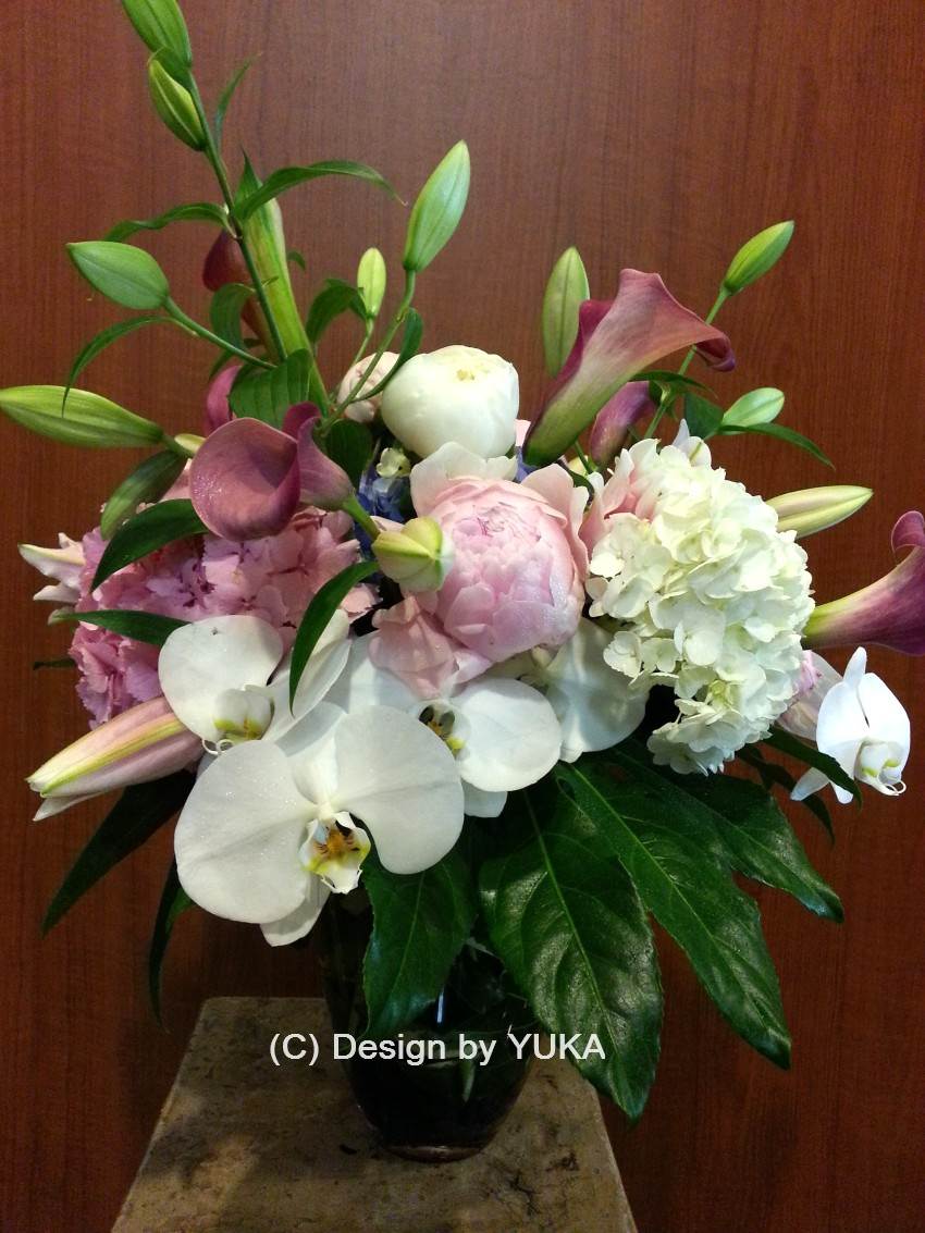 HANA514 Design by Yuka - Seasonal Flower Vase Arrangement