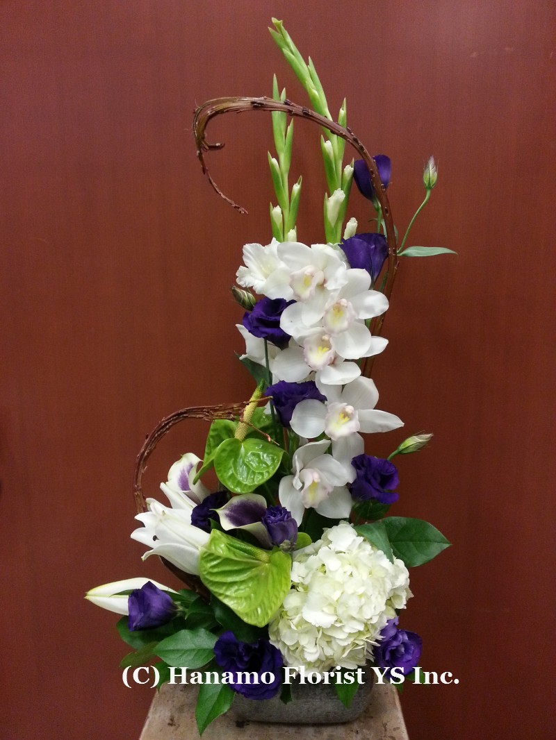 JAPA1205 Seasonal White & Purple Japanese M