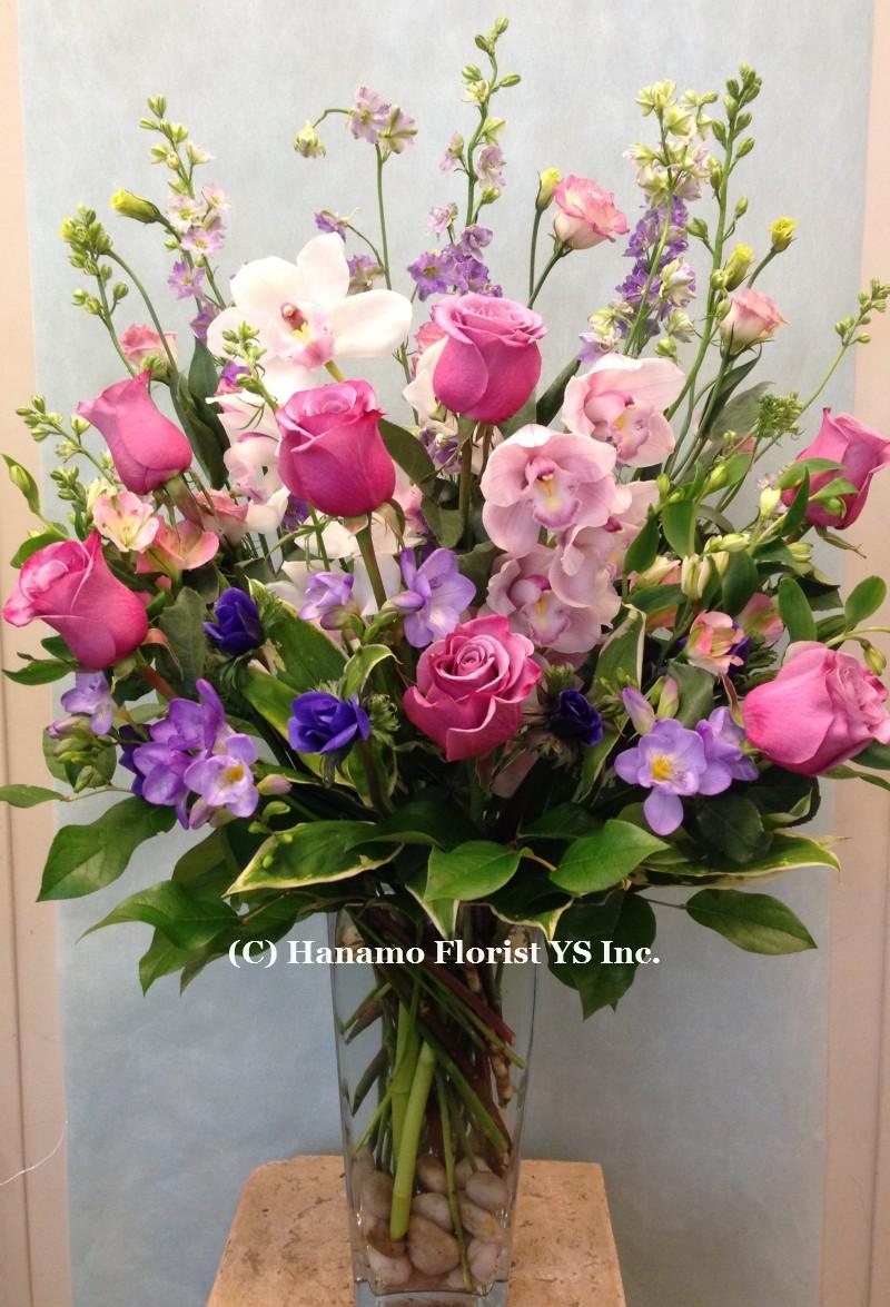Vase805 pink white purple flowers vase large vase805 16900 vase805 pink white purple flowers vase large mightylinksfo