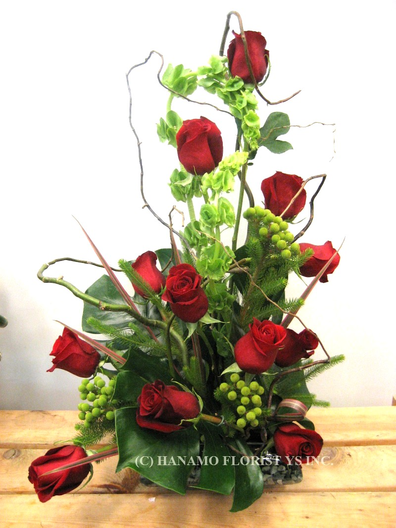 VALE300 1 Doz Best Red Roses Japanese Style