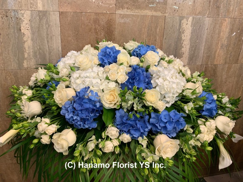 SYMP0730 Casket Spray Arrangement Premium colour theme
