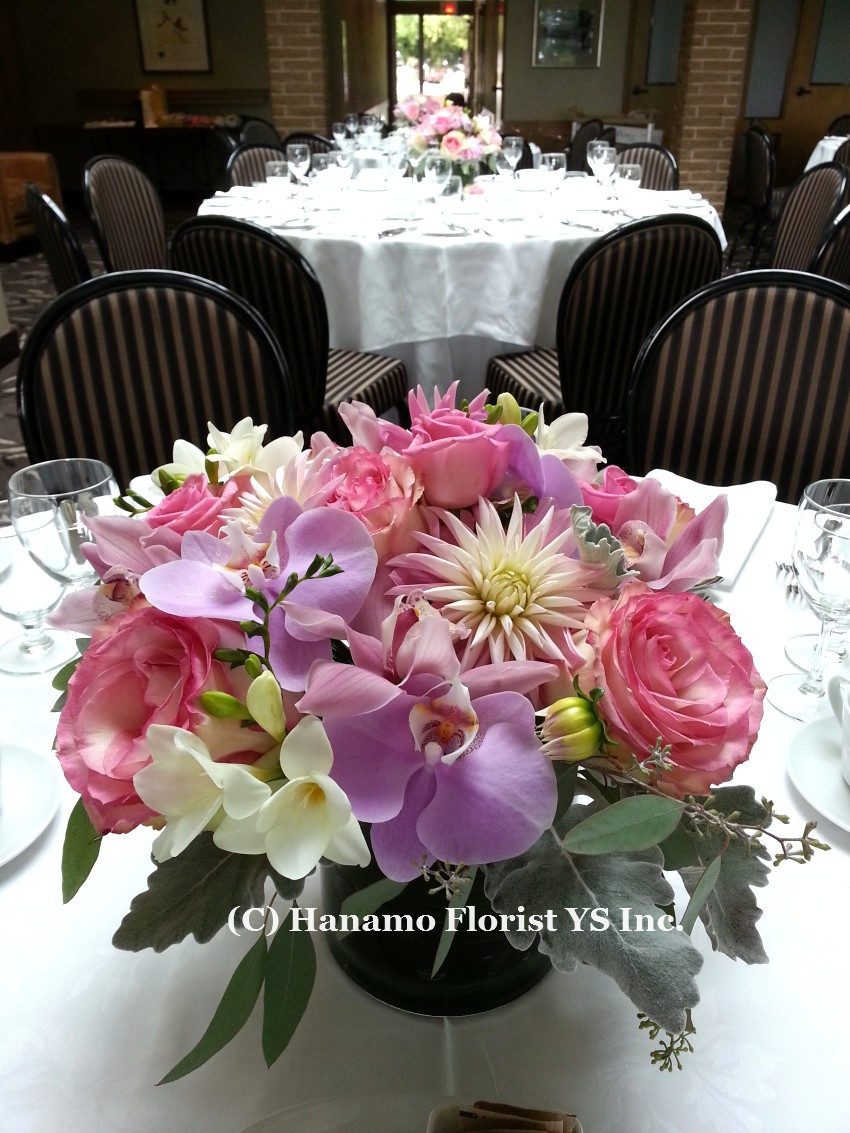 TABL820 Wedding Table Centre Flowers