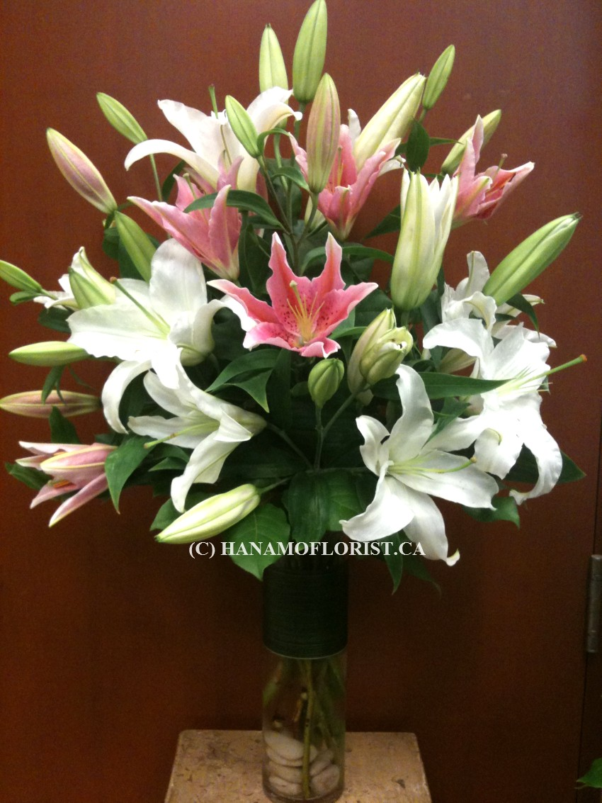 VASE606 Mixed Lily Vase - Click Image to Close