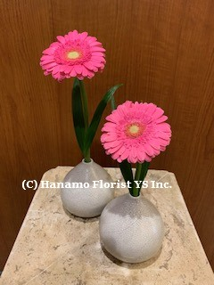 VASE709 SALE - Ceramic Bud Vases with Flower