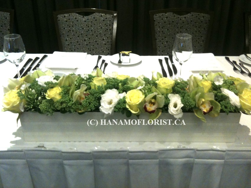Wedding others hanamo florist online store vancouver for Contemporary table arrangements