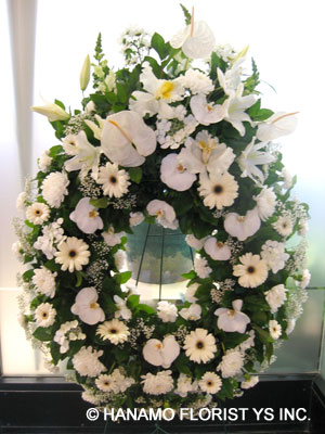 Vancouver Flower Delivery on All White  Symp008     280 00   Hanamo Florist Online Store  Vancouver