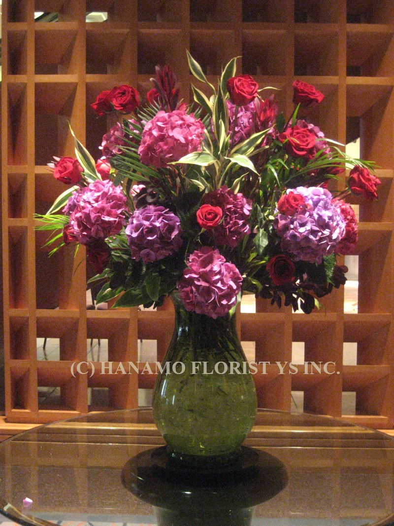 LOBB006 Hydrangea & Roses in an extra large vase