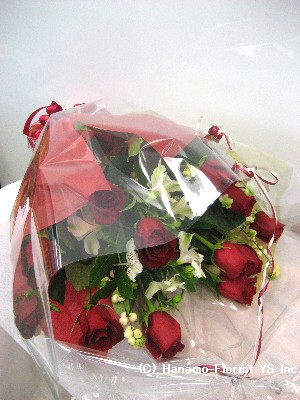 ROSE099 1 Doz Long Stem Premium Ecuadorian Red Roses Handtied