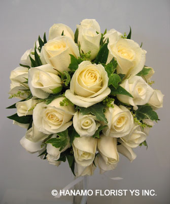 rose flowers bouquet. WEDB063 White Rose Round